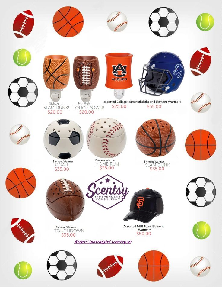 Scentsy Sports warmers for 2016 including College and Major League Baseball. Get yours at https://postalgirl.scentsy.us Scentsy Fall Winter 2016