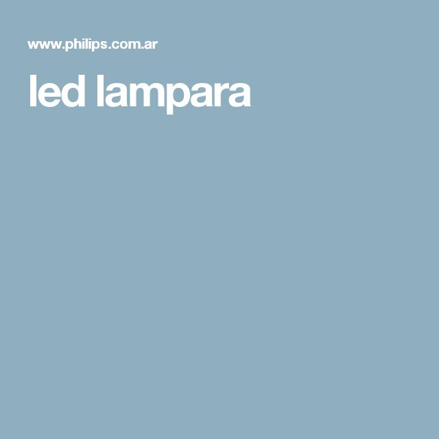 led lampara
