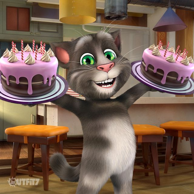 I was a bit sad about the cake, but Talking Tom is the sweetest ever and he had another surprise for me!!! xo, Talking Angela #LittleKitties #TalkingAngela #MyTalkingAngela #Birthday #fun #amazing #wishes #best #happymoments #grateful #thankful #surprise #party #TalkingFriends #TalkingTom #happy #dancing