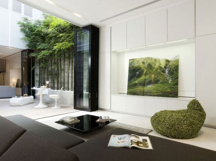 Interior Trees Wall Painting Forest View Magazine Best Modern Interior  Design Trends White Wall Wooden. 31 best images about MODERN INTERIOR DESIGN IDEAS on Pinterest