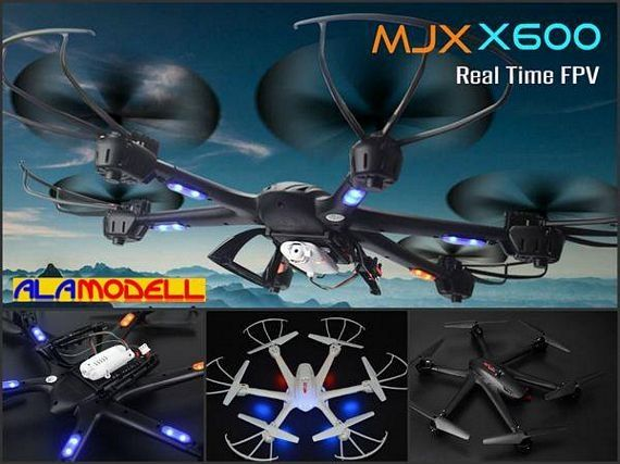 MJX X600 hexacopter 4ch. 6Aixis G. 2. 4GHz.+FPV - alamodell.hu