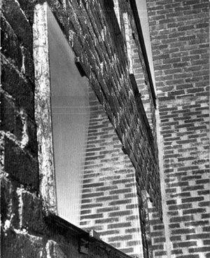 Window detail. St Peter's, Klippan. Sigurd Lewerentz.