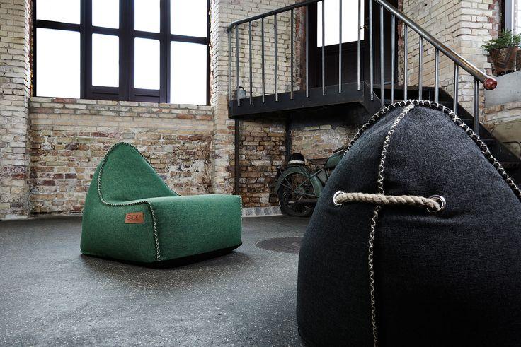 La construcción única proporciona un confort excelente y asegura que su sillón puf conservará su forma y textura en los años posteriores... #sackites #retroit #diseño #estilomoderno #puf #interior #decoracionminimalista