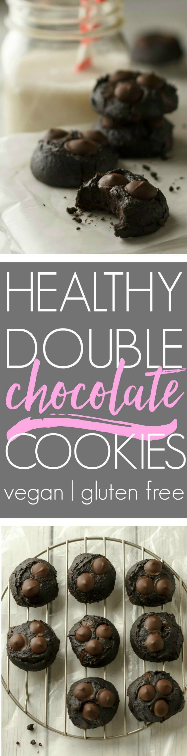 Healthy chocolate cookies that taste AMAZING! Real food ingredients, no refined sugar, naturally vegan and gluten free.