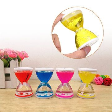 Creative Moving Oil Droplets Sand Hourglass Crafts Sandglass Timer Clock Office Bedroom Home Decor is Optional Mobile