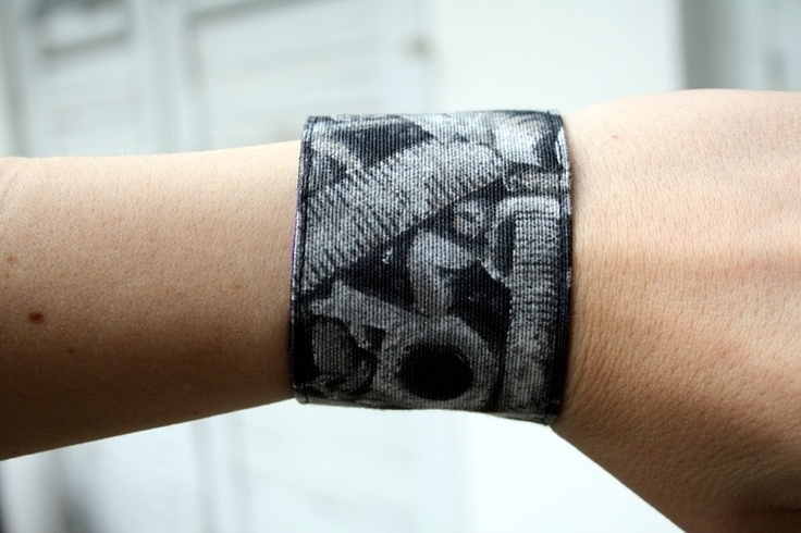 Wende-Armband Schrauben lila Zebra punk DIY goth