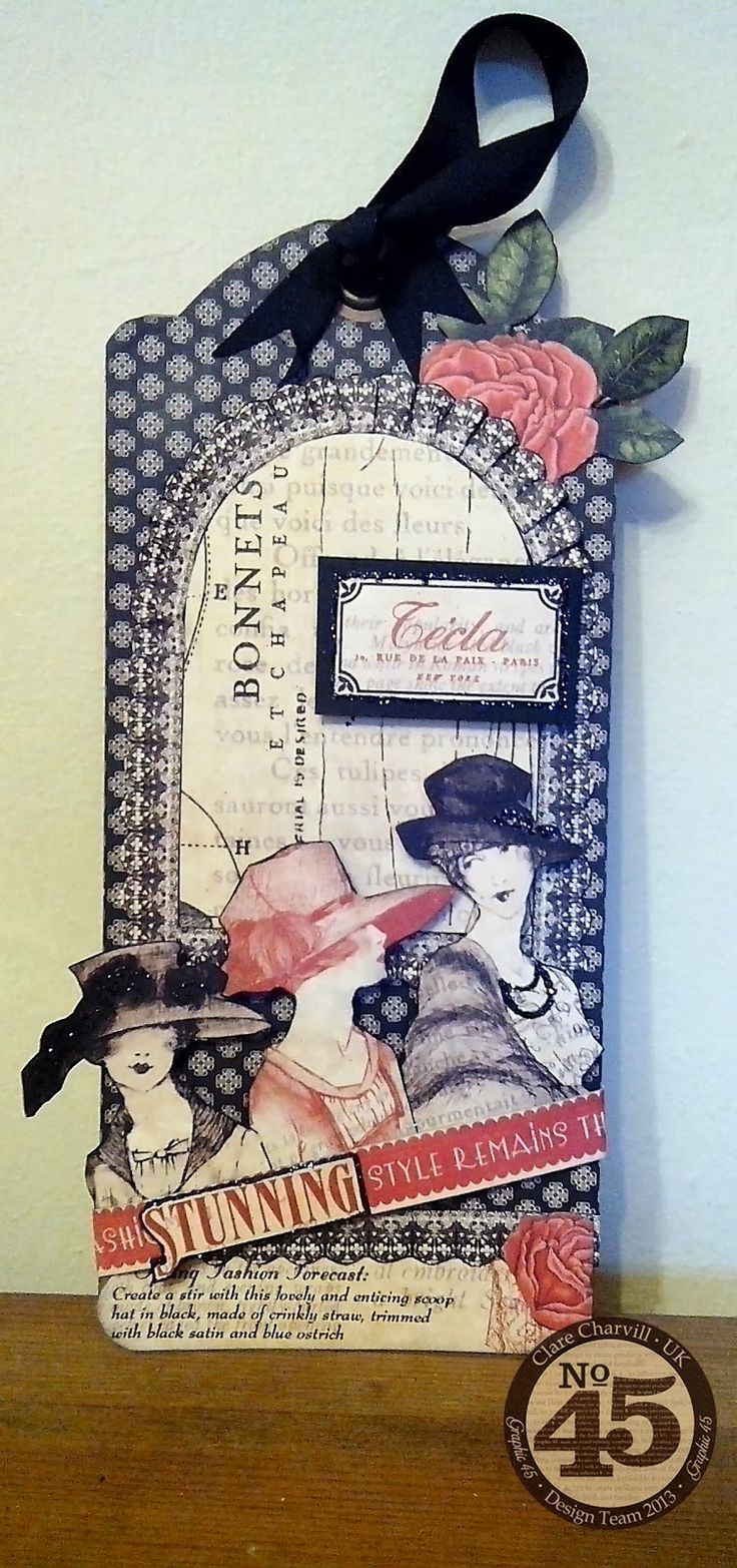 Vintage style scrapbook ideas - My Creative Spirit Elegant Tag Ideas For All Occasions