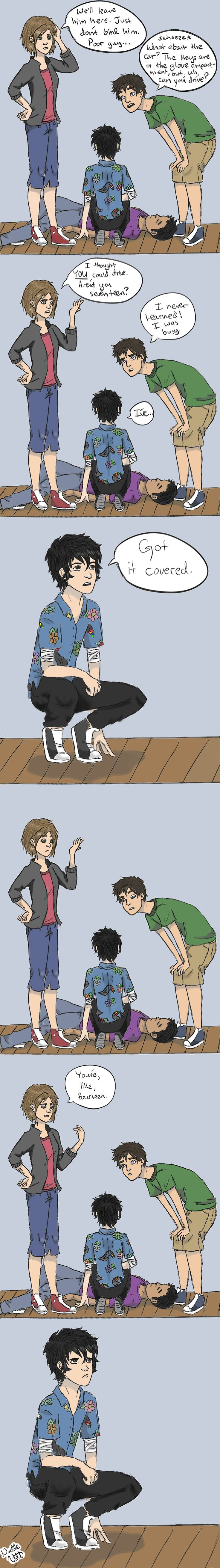 NICO IS WELL OVER 80, THANK YOU VERY MUCH. I'm re reading Blood Of Olympus and I couldn't help myself. (by Noelle Vott)