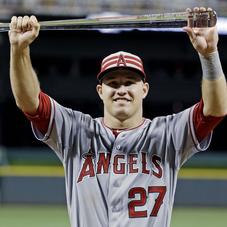 Mike Trout won another MVP award last night...and another Chevy truck!