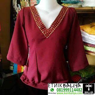 Ready Kebaya Kimono Jepang Murah Warna Merah   Whatsapp/Hp : 081999114482 (XL) - Kain Endek Bali