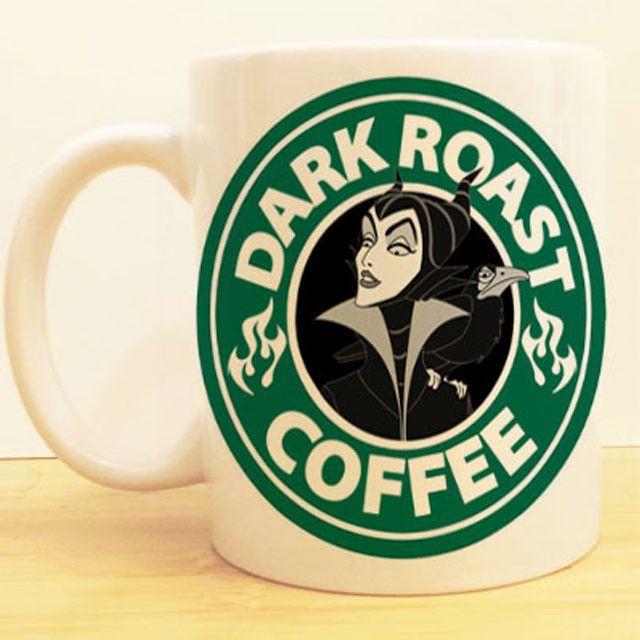 Maleficent Dark Roast Coffee Mug | Sleeping Beauty Starbucks | Disney Villain