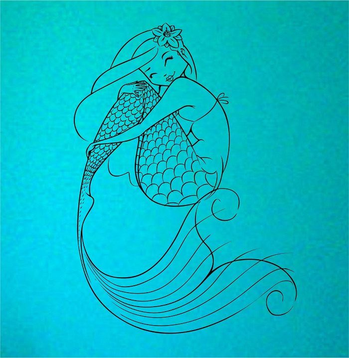 Mermaid Wall Decal Sticker Art Decor Bedroom by StateOfTheWall