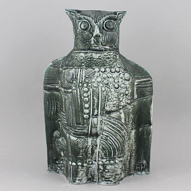 Bertil Vallien (Terra 1970s) Modernistic Large Owl