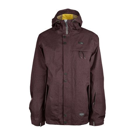3CS Tomahawk Men's Snowboard Jacket - Raisin Red - Products - Boardworld