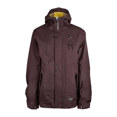 3CS Tomahawk Men's Snowboard Jacket - Raisin Red - Products - Boardworld