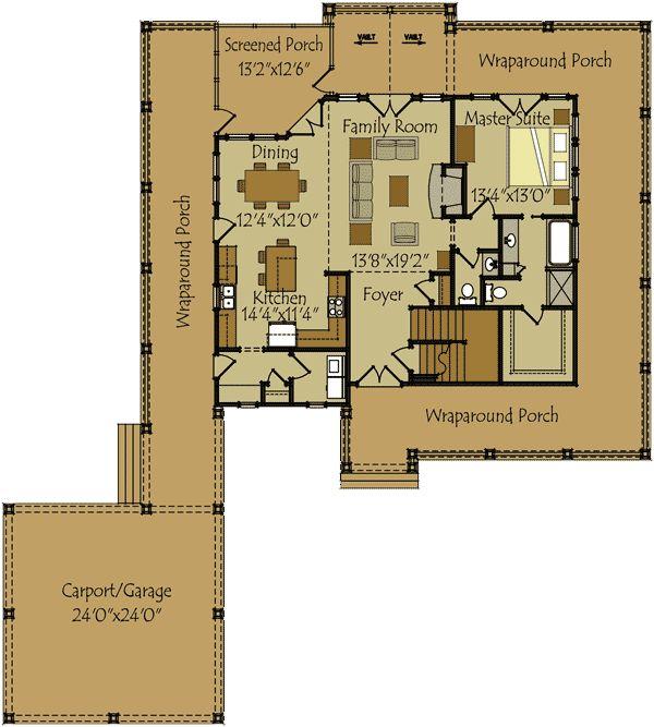 Plan 92309mx Retreat With Full Wraparound Porch