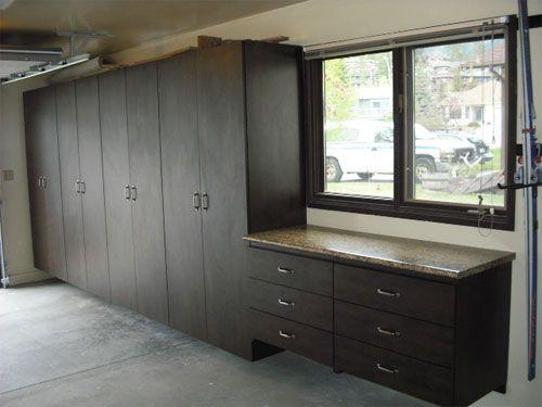 after garage cabinets storage system installed