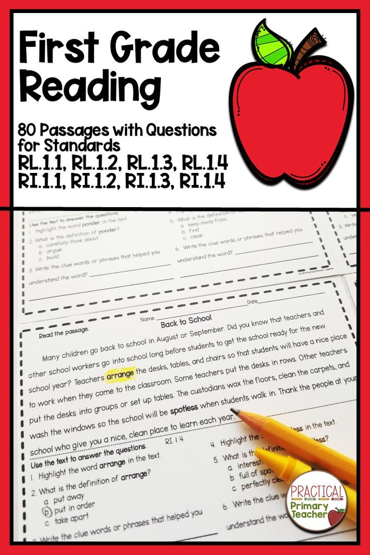 A Bundle Of 80 Reading Passages With Comprehension Questions And Activities For 1st Grade C Reading Comprehension Passages First Grade Reading Reading Passages [ 1104 x 736 Pixel ]