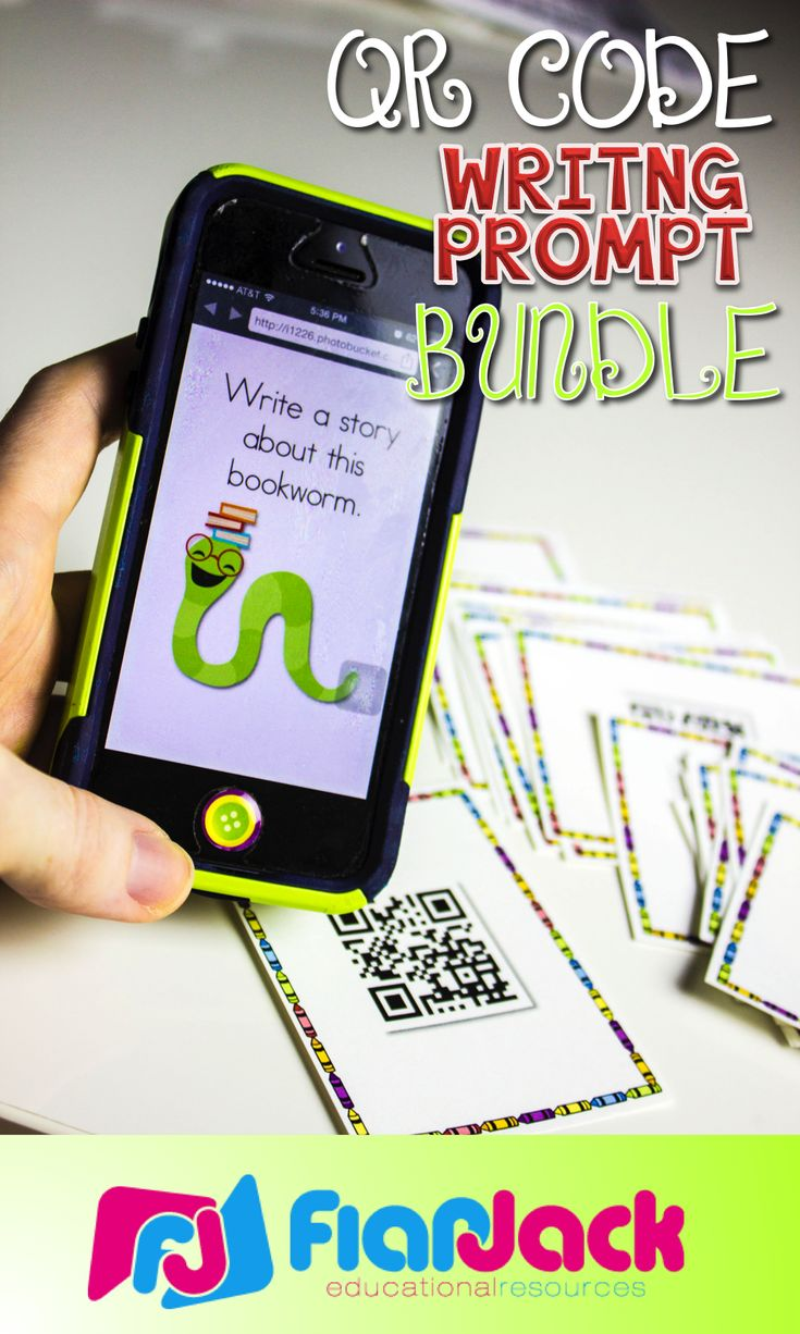 Make writing fun, engaging, and 21st century with this QR Code Writing Prompt Bundle.  The bundle includes 216 QR code writing prompts provided in 3 different formats: 1) Lined Stationery 2) Task Cards 3) QR Code squares that can be mixed together in a bag/bowl for randomly choosing and pasting in interactive notebooks. $