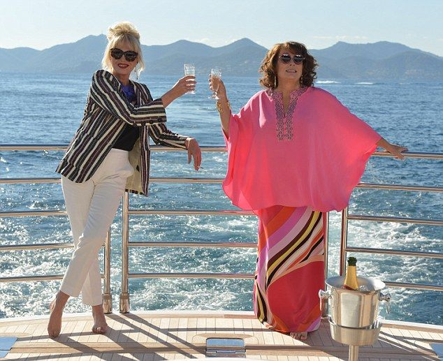 Cheers, sweetie darling! The comedy duo make a welcome return in the first picture from Ab Fab: The Movie