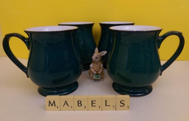 DENBY ~GREENWICH~ craftsman mugs x 4