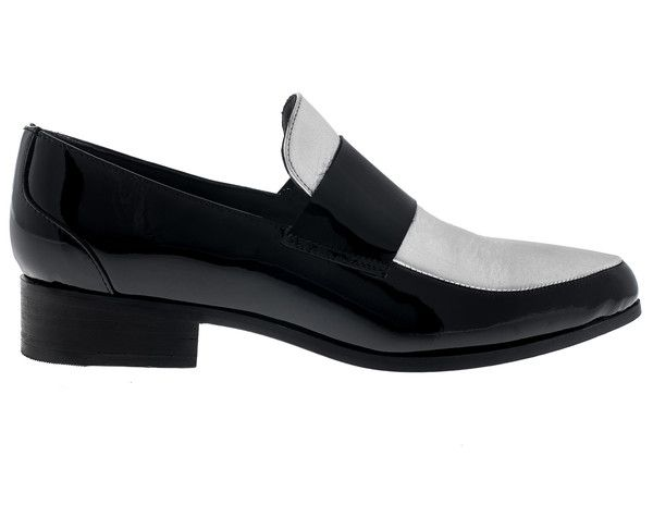 Cartel Footwear SS16 Loafer - Comala Silver and Black Patent