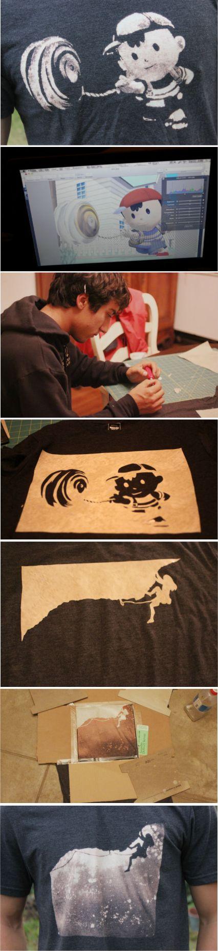 DIY Bleached Stencil T-Shirt | Random Tuesdays