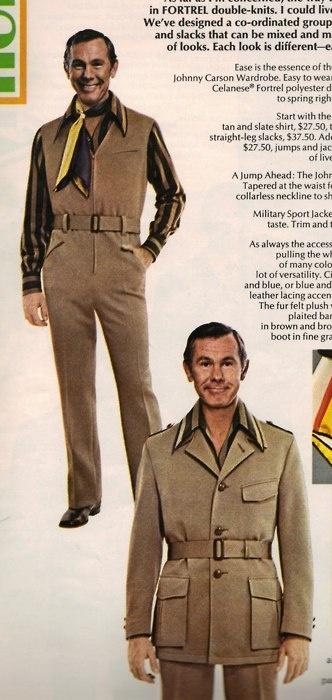 Johnny Carson Wardrobe - gotta love that polyester double knit