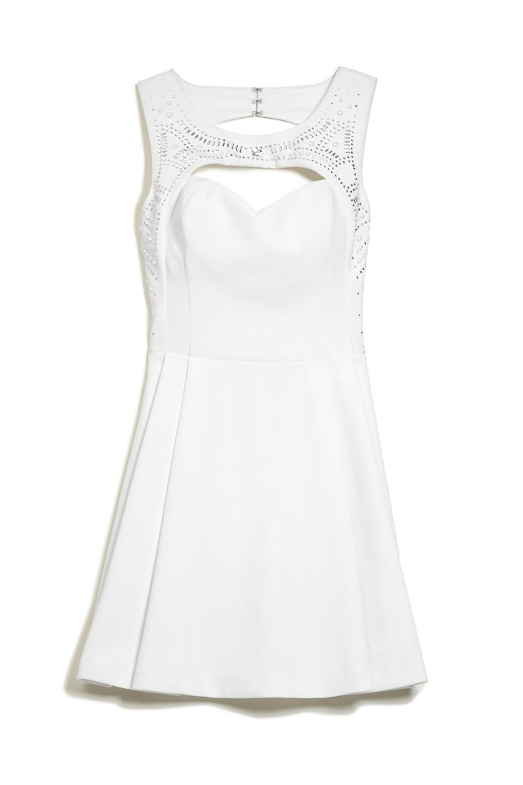 Enter our #GetDressed sweeps and make a statement with this studded white dress! Guess