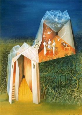 Centaur tower Landscape - Remedios Varo
