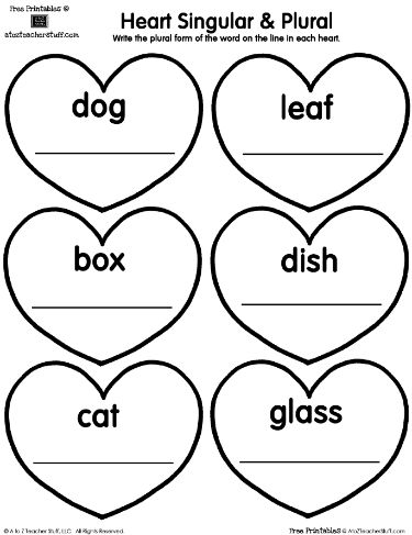 Worksheets Teachers Printable Worksheets 288 best images about teaching free printables on pinterest heart singular plural printable worksheet a to z teacher stuff pages and worksheets