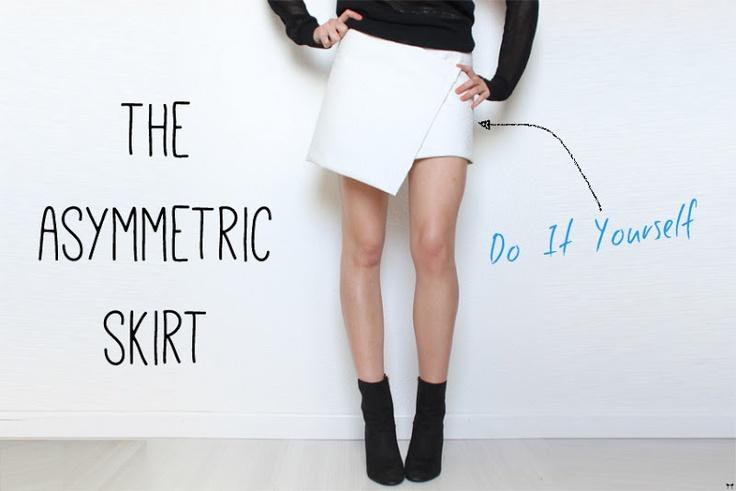 The asymmetric skirt :: DIY