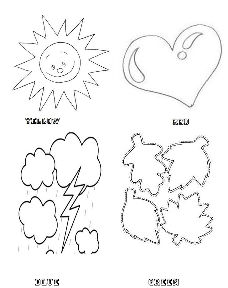 Desenhos Para Colorir Com Cores Em Ingles Para Imprimir Cores Em