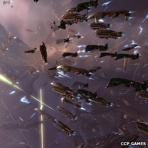Eve players stage giant online space battle: This was between test and goonswarm, im a goonswarm member wooo!!