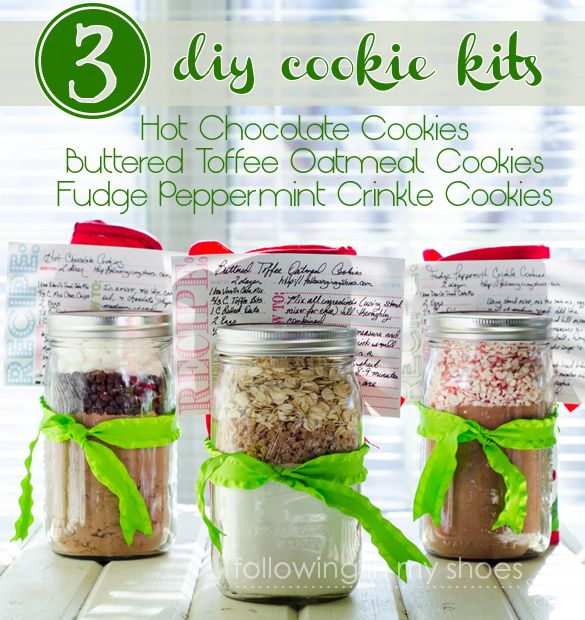 3 DIY Cookie Mix Kits and free printables from @rachellacy (following in my shoes)
