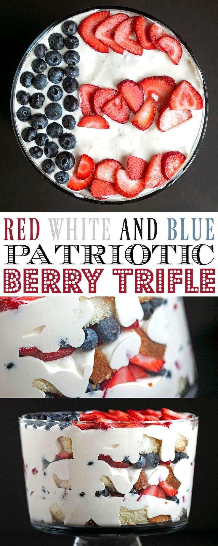 4th of July Patriotic Flag Berry Trifle