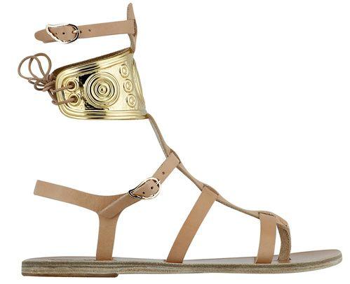 Montantes style grec antique gladiator ancient greek sandals