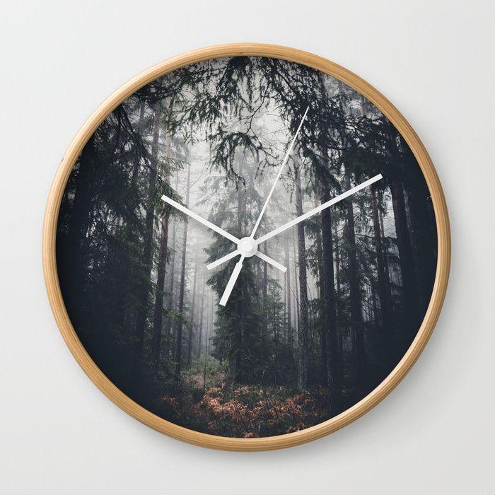 Dark paths Wall Clock by HappyMelvin | Society6