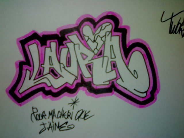 Graffitis Con El Nombre De Laura Imagui Graffiti Names