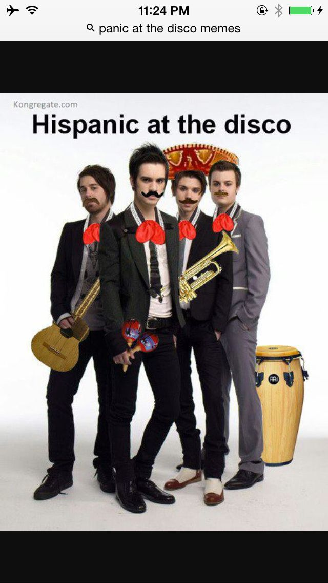 Lol HisPANIC! AT THE DISCO I just noticed what time i was up at to find panic! at the disco memes.