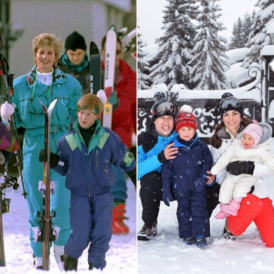 See Princess Diana's Throwback Family Ski Trip Side by Side With Will and Kate's