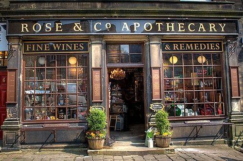apothecary, bronte, display, england, exterior, haworth - inspiring picture on Favim.com