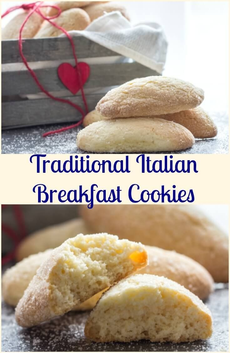 Traditional Italian Breakfast Cookies, a fast & easy cookie recipe, crunchy on outside and soft inside. Perfect for breakfast or snack. via /https/://it.pinterest.com/Italianinkitchn/