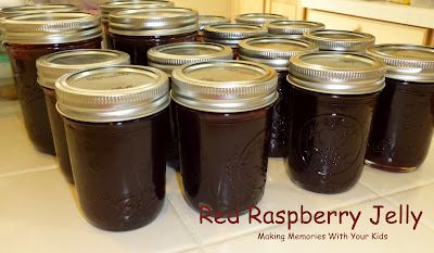 Making Memories ... One Fun Thing After Another: Homemade Red Raspberry Jelly: Red Raspberries, Preserves, Homemade Recipe, Raspberries Jelly, Raspberries Jam, Kids, Memories, Bath Canning, Homemade Red