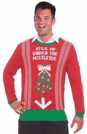 Inappropriate Funny Ugly Christmas Sweater Under the Mistletoe
