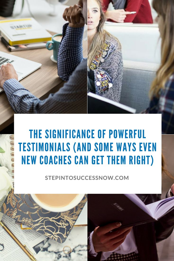 How to get powerful testimonials from your clients, tips and tricks.  https://stepintosuccessnow.com/blogs/news/the-significance-of-powerful-testimonials-and-some-ways-even-new-coaches-can-get-them-right