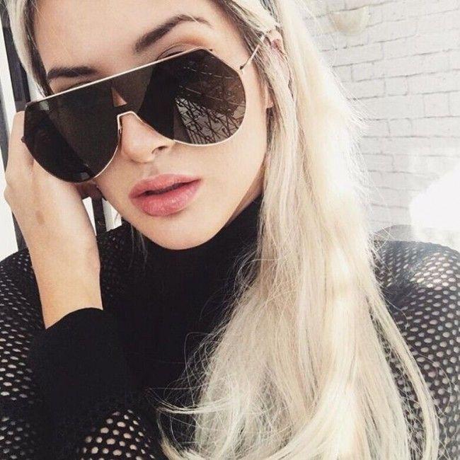 women's mirrored aviator sunglasses 950l  Retro oversized metal frames blades teardrop lenses #aviator #sunnies # sunglasses #mirror #