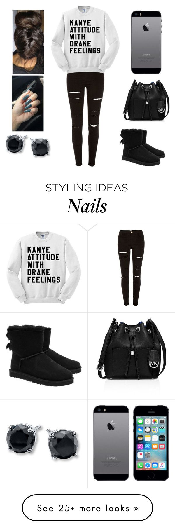 """Wtf????"" by aminataremy on Polyvore featuring UGG Australia, River Island and MICHAEL Michael Kors"