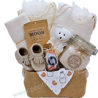 40 best baby gift baskets images on pinterest baby presents pure baby organic baby basket negle Image collections