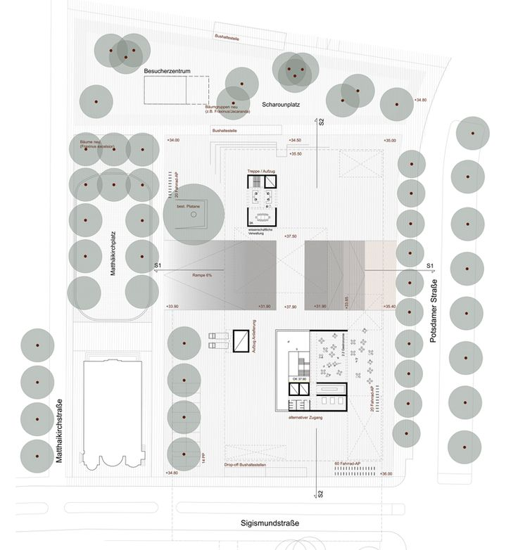 A museum for the 20th Century, Berlin A draftworks and dkwerkraum collaboration. Ground plan